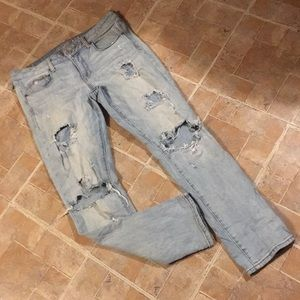 American Eagle distressed skinny jeans size 12